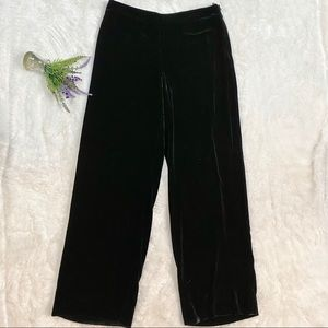 GIORGIO Armani Ribbed Velvet Wide Leg Pants